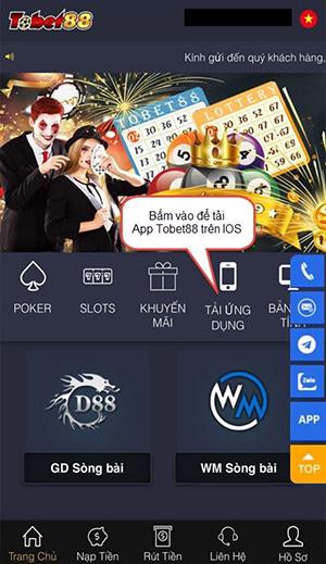 Truy cập vào web nhà cái Tobet88 trên điện thoại